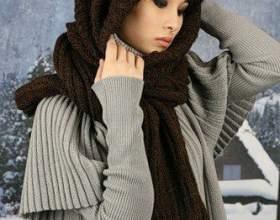 Как связать шарф-капюшон фото