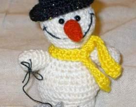 Как связать снеговика фото