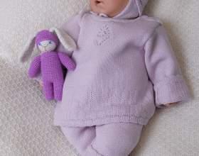 Как связать спицами одежду новорожденным фото