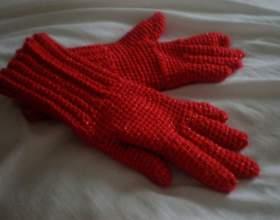Как связать женские перчатки фото