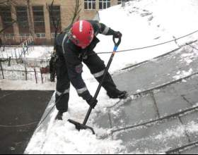Как убирать снег с крыши фото