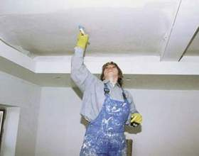 Как удалить побелку с потолка фото