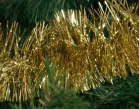 Как украсить елку мишурой фото