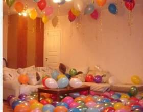 Как украсить комнату шарами фото