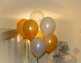 Как украсить комнату шариками фото