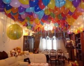 Как украсить квартиру к празднику гелиевыми шарами фото