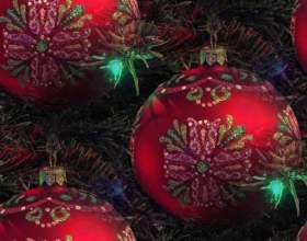 Как украсить новогодние шары фото
