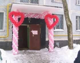 Как украсить подъезд невесты фото