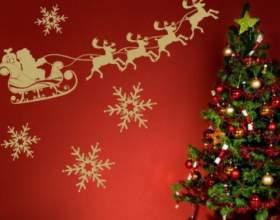 Как украсить стены для нового года фото