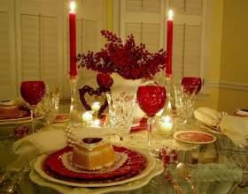 Как украсить стол к романтическому ужину фото