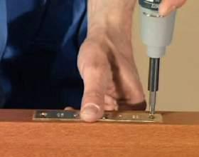 Как установить дверной замок фото