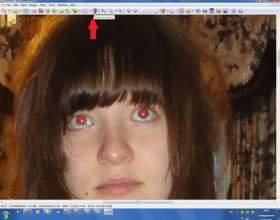 Как устранить эффект красных глаз фото
