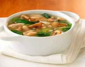 Как варить суп из шампиньонов фото