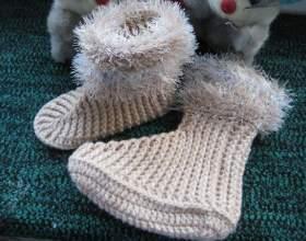 Как вязать детские носки крючком фото