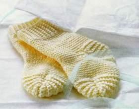 Как вязать носки без шва на двух спицах фото