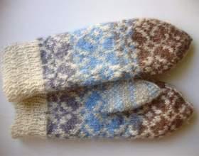 Как вязать носки и варежки фото