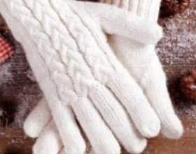 Как вязать перчатки спицами фото