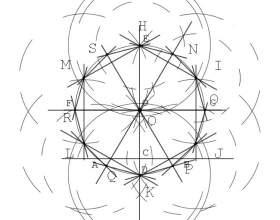 Как вписать двенадцатиугольник в окружность фото