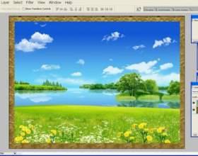 Как вставить фото в рамку в программе фотошоп фото