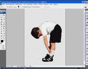 Как вырезать человека в фотошопе фото