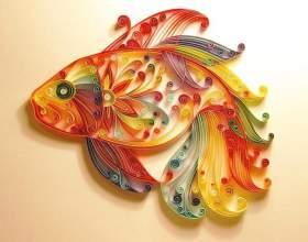 Как вырезать из бумаги ажурную рыбку фото