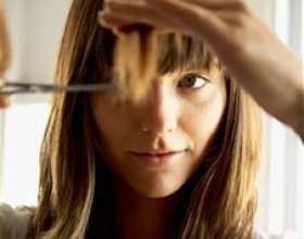 Как выстригать челку фото