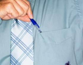 Как вывести чернильное пятно из одежды фото