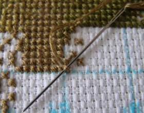 Как закрепить нитку при вышивании крестиком фото