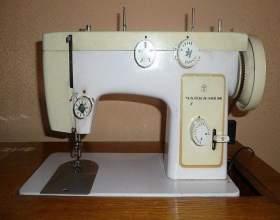 Как заправлять ножную швейную машинку фото