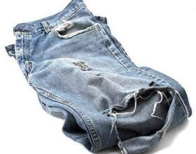 Как зашить дырку на брюках фото