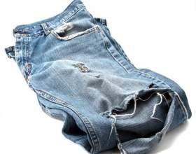 Как зашить дырку на джинсах фото