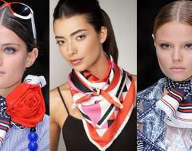 Как завязать красиво платок и шарф фото