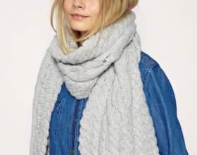 Как завязать шарф зимой фото