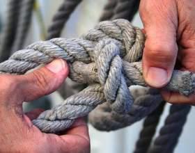 Как завязать веревку без узлов фото