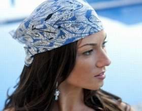 Как завязывать платки на голове летом фото