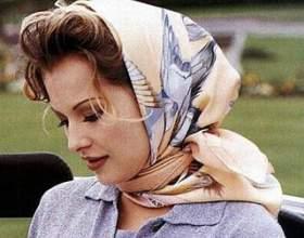 Как завязывать шарф на голове фото