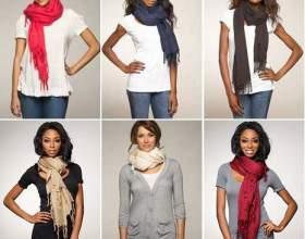 Как завязывать теплый шарф фото