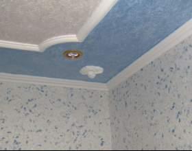 Какие обои лучше всего клеить на потолок фото