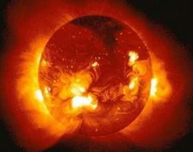 Какого размера солнце фото