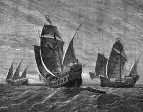 Какой корабль участвовал в первой экспедиции колумба фото