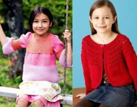 Кофта вязаная для девочки: отличная повседневная одежда фото
