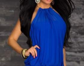 Короткое синее платье фото