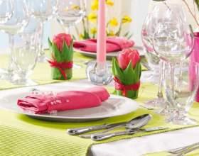 Красивая сервировка стола - залог хорошего обеда фото