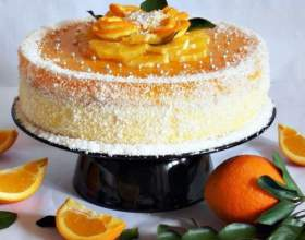 Легкий торт с вареным апельсином фото
