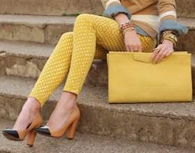 Летний сезон 2014: желтые джинсы фото