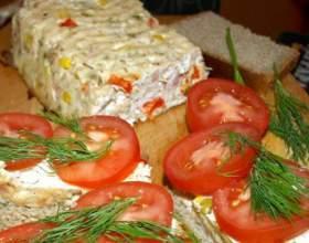 Миндально-куриный хлеб с овощами фото