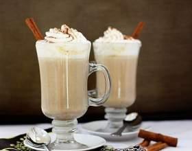Молочный напиток с белым шоколадом фото