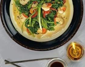 Морские гребешки с овощами фото