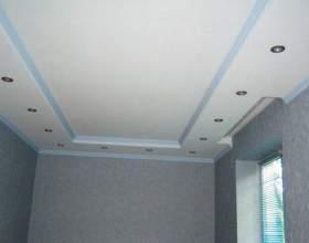 Можно ли на кухне делать потолок из гипсокартона фото