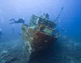 На какой глубине находятся затонувшие корабли фото